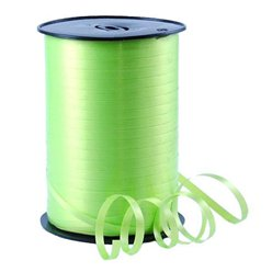 Lime Green Curling Balloon Ribbon - 500m