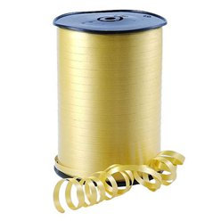 Gold Curling Balloon Ribbon - 500m