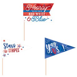 4th July Mini Pennants - 23cm