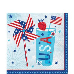 Celebrate USA Paper Napkins - 33cm