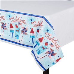 Celebrate USA Plastic Tablecover - 2.6m