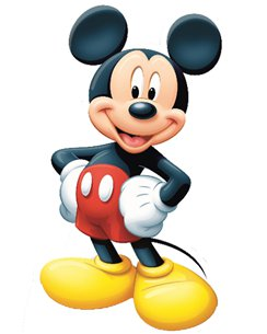 Mickey Mouse Cardboard Cutout - 1.07m