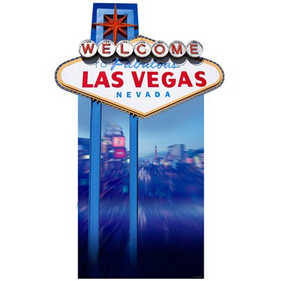 "Welcome to Vegas"" Cardboard Sign 1.9m"
