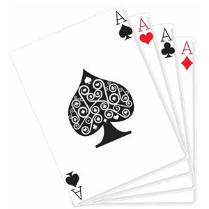 Hand of Cards Cardboard Cutout - 1.5m