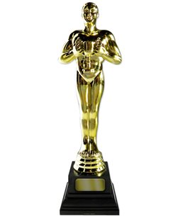 Hollywood Awards Night Golden Statue Cardboard Cutout - 1.8m