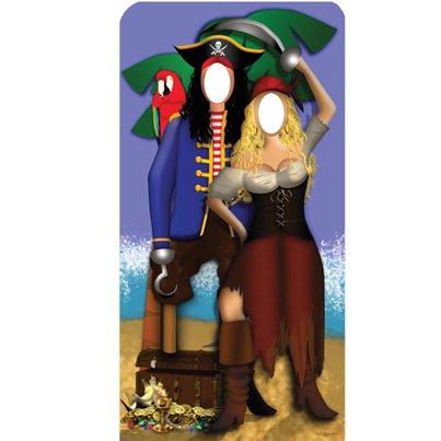 Pirate Couple Stand In Photo Prop - 1.86m