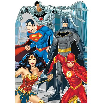 Justice League Childtrens Stand In Cutout - 1.35m