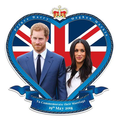 Harry & Meghan Wall Cutout - 62cm
