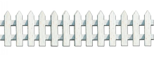 White Picket Fence Cutouts