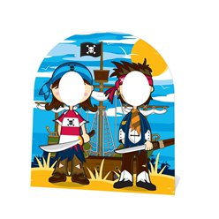Pirate Friends Stand In Photo Prop - 1.2m