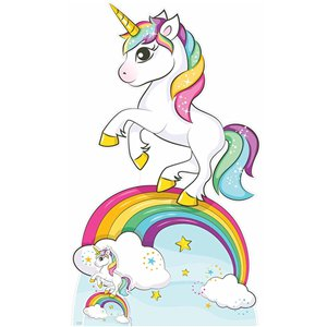 Rainbow Unicorn Cardboard Cutout - 1.6m