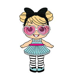 Party Doll with Large Eyes & Shades Cardboard Cutout - 86cm