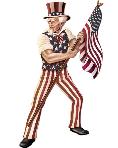 Uncle Sam Cardboard Cutout - 1.68m