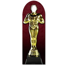 Hollywood Awards Night Golden Statue Stand In Photo Prop - 1.8m
