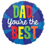 "'Dad, You're the Best' Balloon - 18"" Foil"