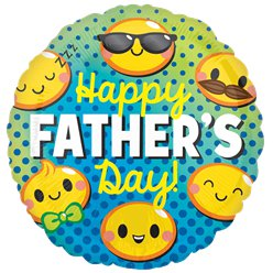 "Happy Fathers Day Emoticons Balloon - 18"" Foil"