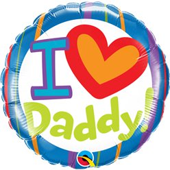 "'I Heart Daddy' Fathers Day Balloon - 18"" Foil"