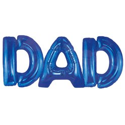"Fathers Day Dad Blue Balloon - 13"" Foil"