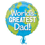 "World's Greatest Dad Balloon - 18"" Foil"
