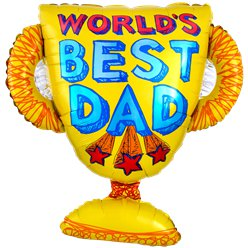 "'World's Best Dad' Fathers Day Balloon - 27"" Foil"