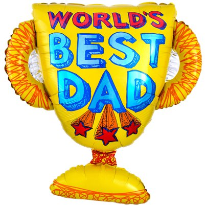 "Best Dad Trophy Balloon - 27"" Foil"
