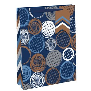 Bronze Circles Large Gift Bag