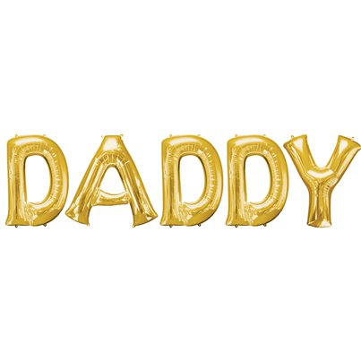 "DADDY Balloon Bunting Kit - 16"" Foils Gold"