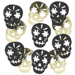 Skull Day of the Dead Metallic Confetti