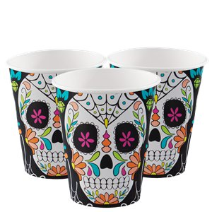 Skull Day of the Dead Cups - 255ml