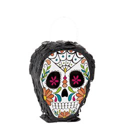 Skull Day of the Dead Mini Pinata Decoration