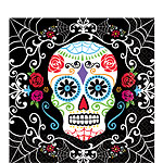 Day of the Dead Napkins - 2ply Paper