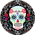 Day of the Dead Dinner - Paper Party Plates 25cm