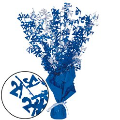 21st Birthday Blue Foil Spray Table Centrepiece - 43cm