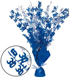 30th Blue Foil Centrepiece - Table Decoration
