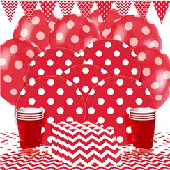 Red Dots Party Pack - Deluxe Pack for 8