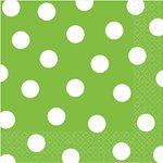 Lime Green Polka Dot Napkins - 33m