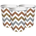 Metallic Chevron Party Cups - 256ml