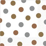 Metallic Polka Dot Napkins - 33cm