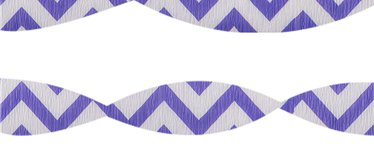 Purple Chevron Crepe Streamer - 24m