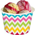 Rainbow Chevron Ice Cream Tubs