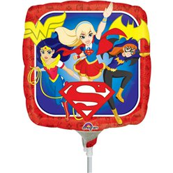 "DC Super Hero Girls Airfilled Balloon - 9"" Foil"