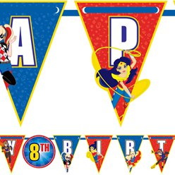 DC Super Hero Girls Add an Age Bunting - 3.2m
