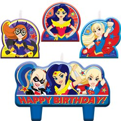 DC Super Hero Girls Cake Candles