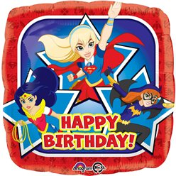 "DC Super Hero Girls Happy Birthday Balloon - 18"" Foil"