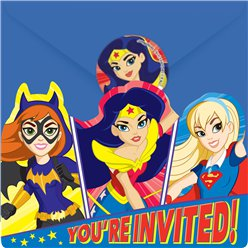 DC Super Hero Girls Invites - Party Invitation Cards