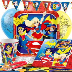DC Super Hero Girls Party Pack - Deluxe Pack for 8