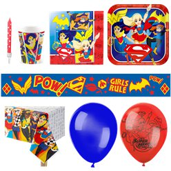 DC Super Hero Girls Deluxe Party Kit - For 16