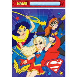 DC Super Hero Girls Party Bags - Plastic Loot Bags