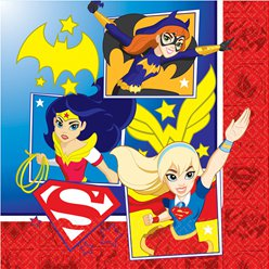DC Super Hero Girls Napkins - 2ply Paper