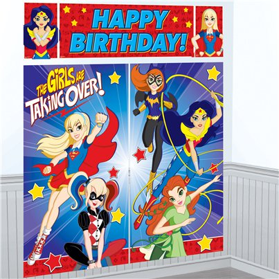 DC Super Hero Girls Scene Setter - 1.5m
